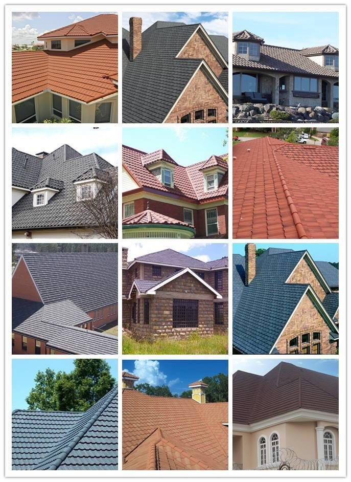 Metal Tile Roof Shingles Shingle Color Stone Coated Metal