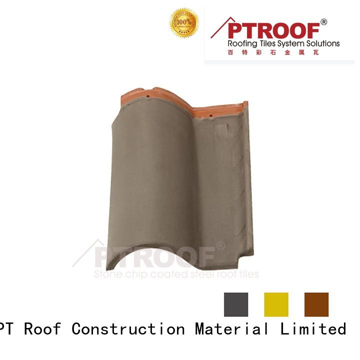 Best Pressure Resistance Residential Roman Clay Roof Tile Ptr01